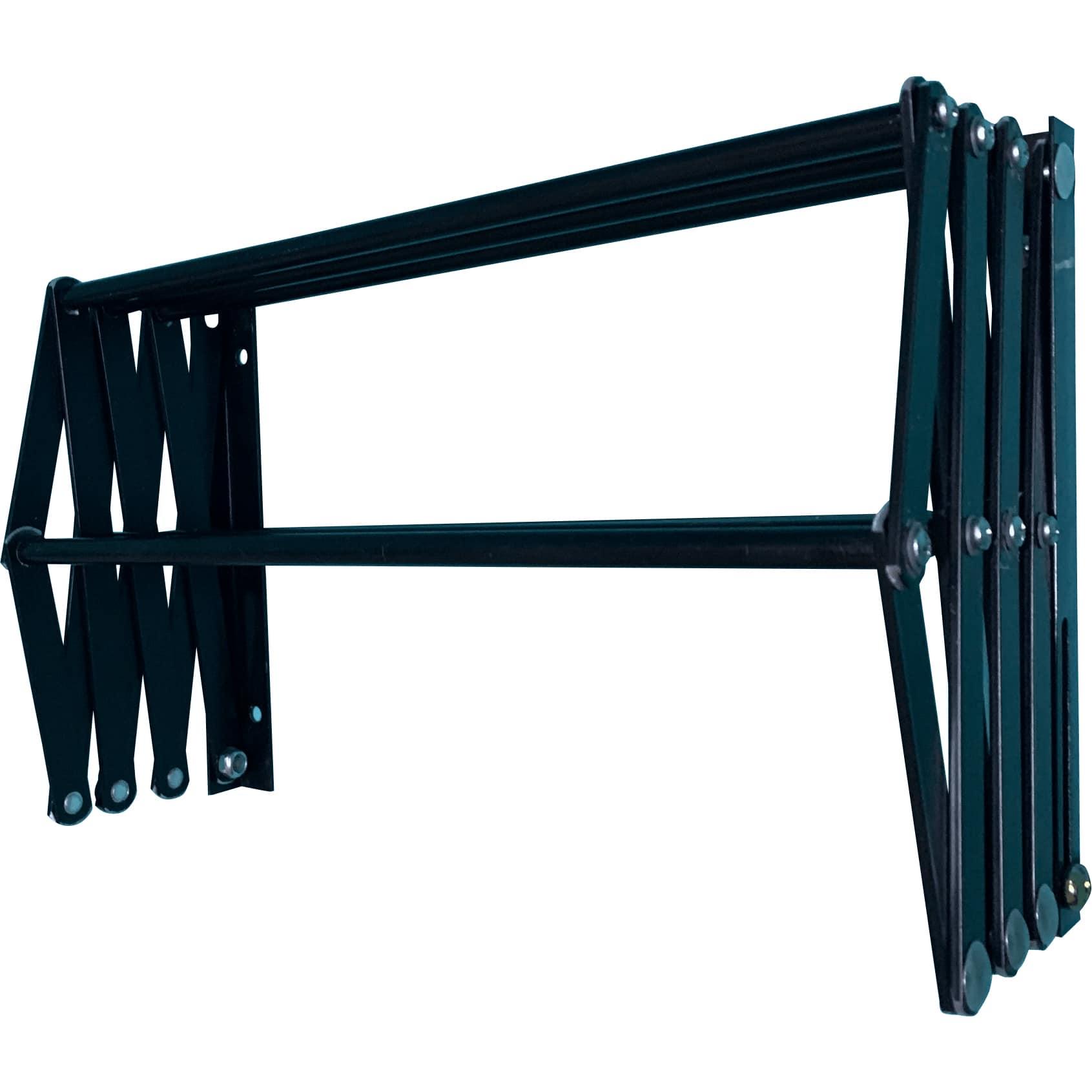 Varal Sanfonado 60cm Em Alumínio De Parede Retrátil - Preto