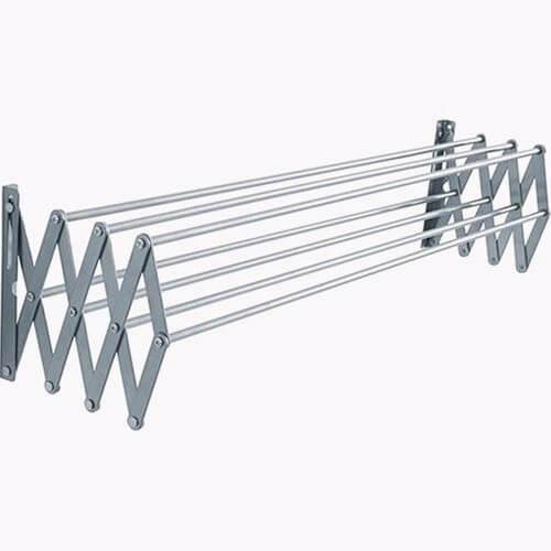 Varal Sanfonado 100cm Em Alumínio De Parede Retrátil
