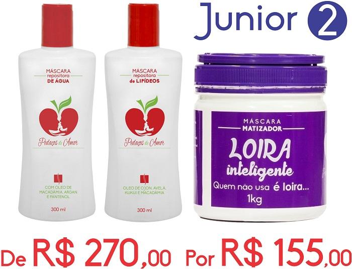 Junior 2-Máscaras Lípidios e Água + Loira Inteligente