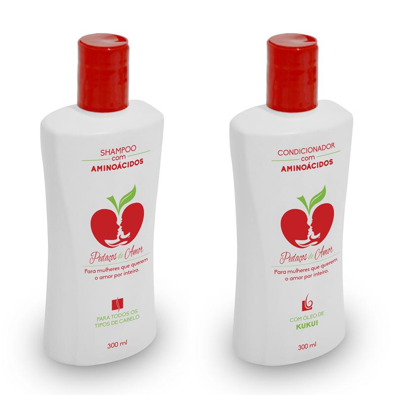 Kit Shampoo e Condicionador com Aminoácidos (300ml)