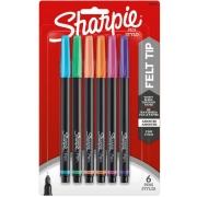 BLISTER C/6 MARCADORES SHARPIE PONTA FINA NEW COLORS Pen Stylo
