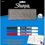 Caneta Quadro Branco Sharpie Fina - Kit C/ Apagador 003 Cores 1776963