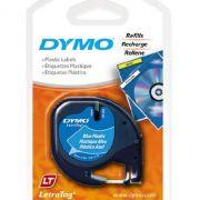Fita p/rotulador letratag 12mmx4mt (plástica) Azul