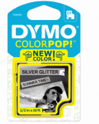 Fita para Rotulador Dymo Color Pop D1 Cinza Glitterizada