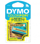 Fita para Rotulador Dymo Color Pop D1 Dourada Glitterizada