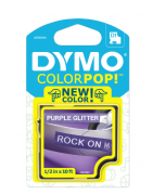Fita para Rotulador Dymo Color Pop D1 Roxo Glitterizada