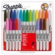 Marcador permanente Sharpie fino c/ 24 cores sortidas