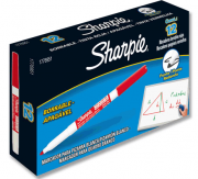 Marcador para Quadro Branco Fino SHARPIE/EXPO - Cor Vermelha Caixa com 12 unidades