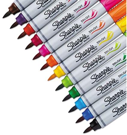 Blister c/12 Marcadores Permanentes Sharpie Brush Tip