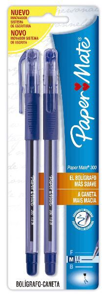 BLISTER C/2 CANETAS PAPERMATE 300  AZUL