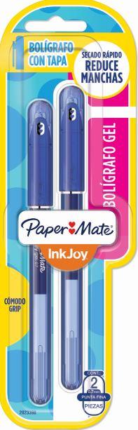 BLISTER C/2 CANETAS PAPERMATE INKJOY GEL 0.7 AZUL