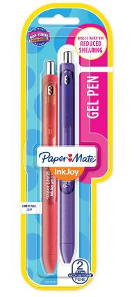 Caneta InkJoy gel Paper Mate retrátil - 2 cores sortidas