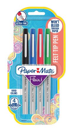 BLISTER C/4 CANETAS PAPERMATE FLAIR UF BUSINESS