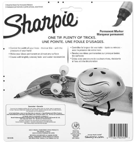 Blister c/8 Marcadores Permanentes Sharpie Brush Tip