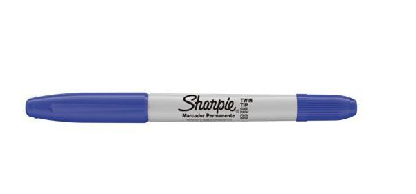 Caneta Permanente Sharpie Twin Tip Azul