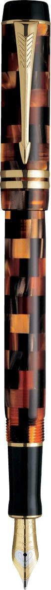 Caneta Tinteiro Duofold Check Ambar Internacional S0690710