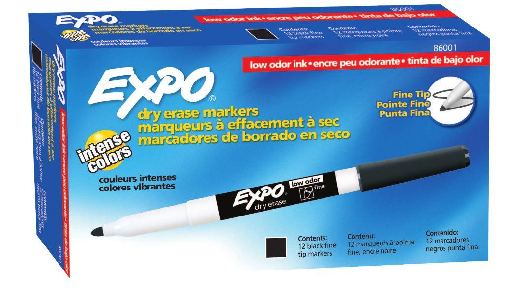 Pincel para Quadro Branco fino preto - Expo