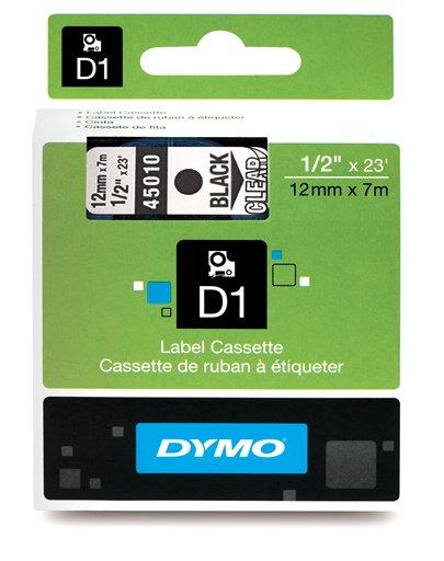 Fita p/rotulador eletronico PROFISSIONAL 12mmx7mt PT/Transparente