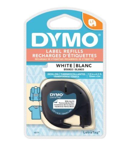 Fita para tecido DYMO para rotulador eletrônico LetraTag (12mm x 2m)