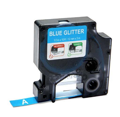 Fita para Rotulador Dymo Color Pop D1 Azul Glitterizada