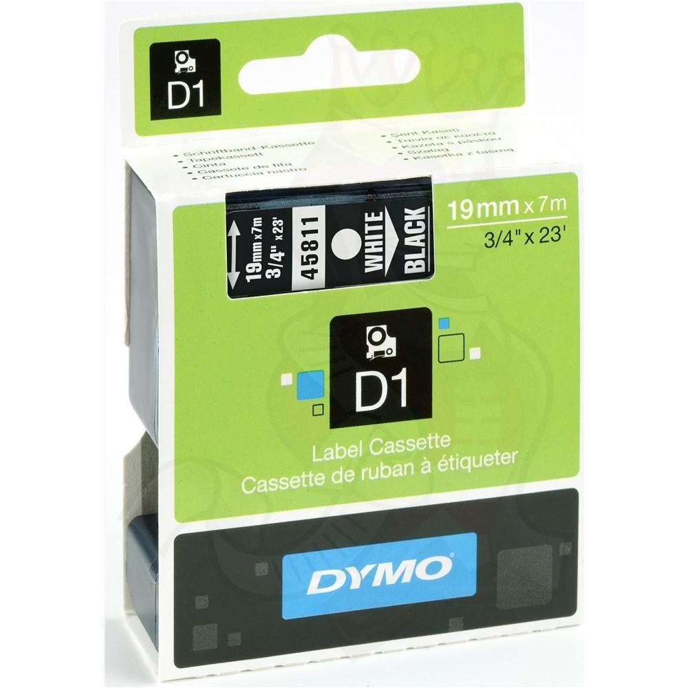 Fita Poliéster Dymo auto-adesiva p/ Rotulador Eletrônico Profissional (19mm x 7 mts) BR/PT