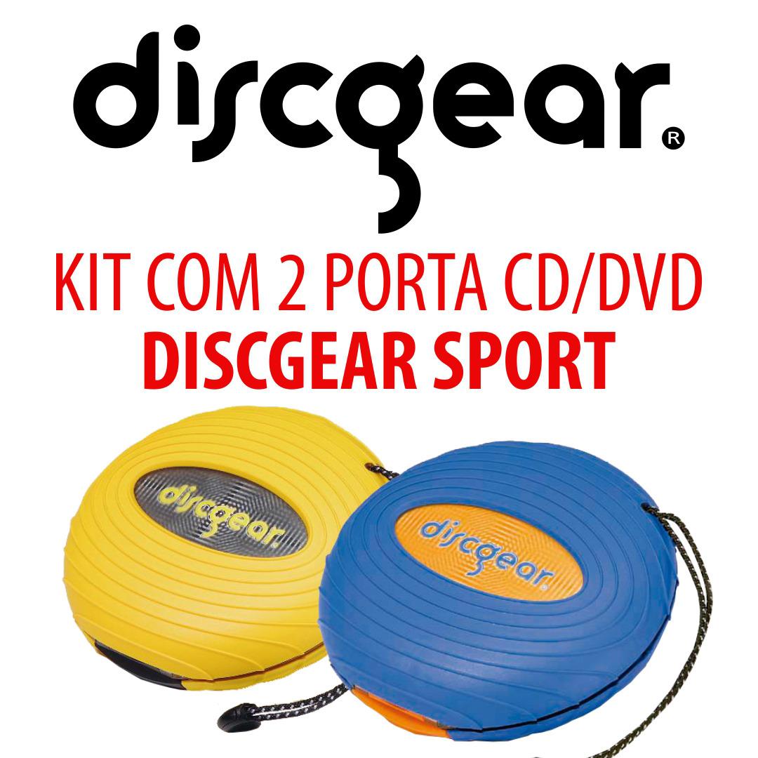 KIT C/ 2 PORTAS CDs DISCGEAR SPORT - AM. E AZ.