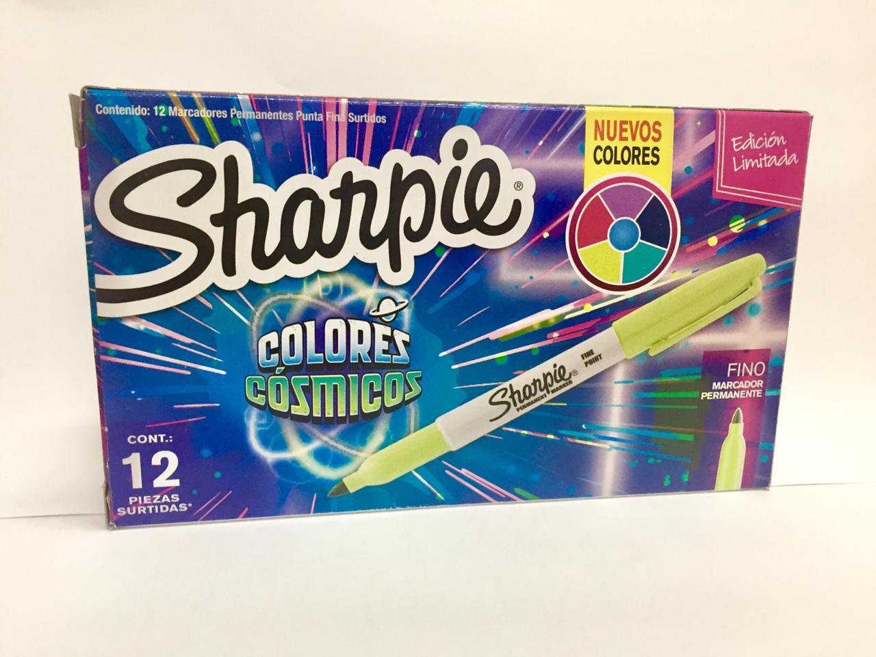 Marcador Permanente Sharpie Cosmic Colors Caixa C/12
