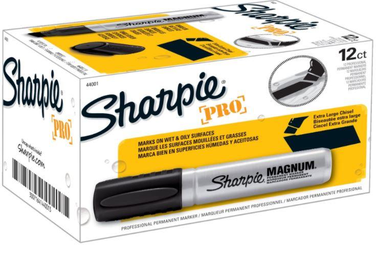 Marcador Permanente Sharpie Magnum Preto - Ponta Chanfrada