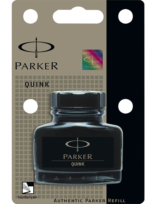 Vidro de tinta Parker Quink Negro
