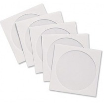 1000  ENVELOPE BRANCO P CD/DVD COM VISOR TRANSP.
