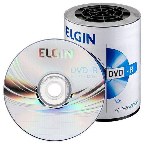 100 DVD-R ELGIN  16X LOGO