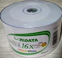 100  DVD-R RIDATA  PRINT.  16x (ritek g05)