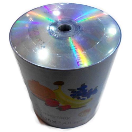 100 DVD- R SMARTBUY  16X LOGO PRATA