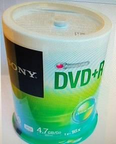 100 DVD+R SONY 16  COM LOGO