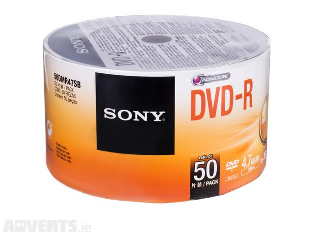 100  DVD-R SONY 16X LOGO