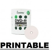 100  DVD-R SMARTBUY 16X PRINTABLE MADE TAIWN