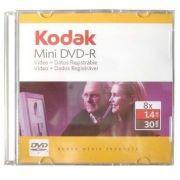 10 MINI DVD- R KODAK 8 x 1.4 GB  30 MINUTOS