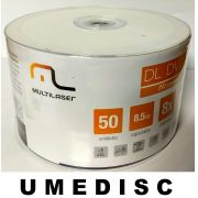 50 DUAL LAYER MULTILASER PRINTABLE  UMEDISC 8.5GB