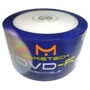 50 DVD-R MAKETECH PRINT. 16X MADE TAIWAN