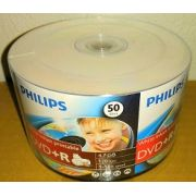 50 DVD+R PHILIPS  16X PRINTABLE