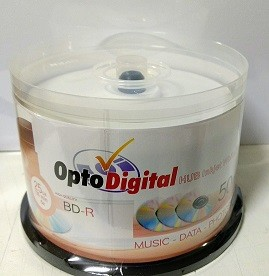 50 BLURAY OPTODIGITAL PRINT. 6X 25GB