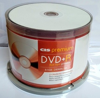 50 DUAL LAYER CIS PRINTABLE 8X   8.5GB ( ID CMC MAGNETICS) P XBOX
