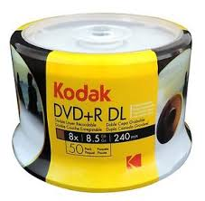 50 DUAL LAYER KODAK  PRINTABLE UMEDISC 8.5GB