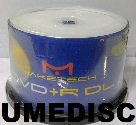 50 DUAL LAYER MAKETECH PRINTABLE  UMEDISC 8.5GB