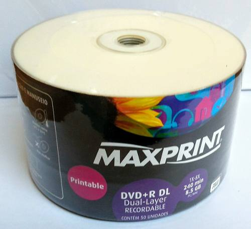 50 DUAL LAYER MAXIPRINT. PRINTABLE  (UMEDISC)