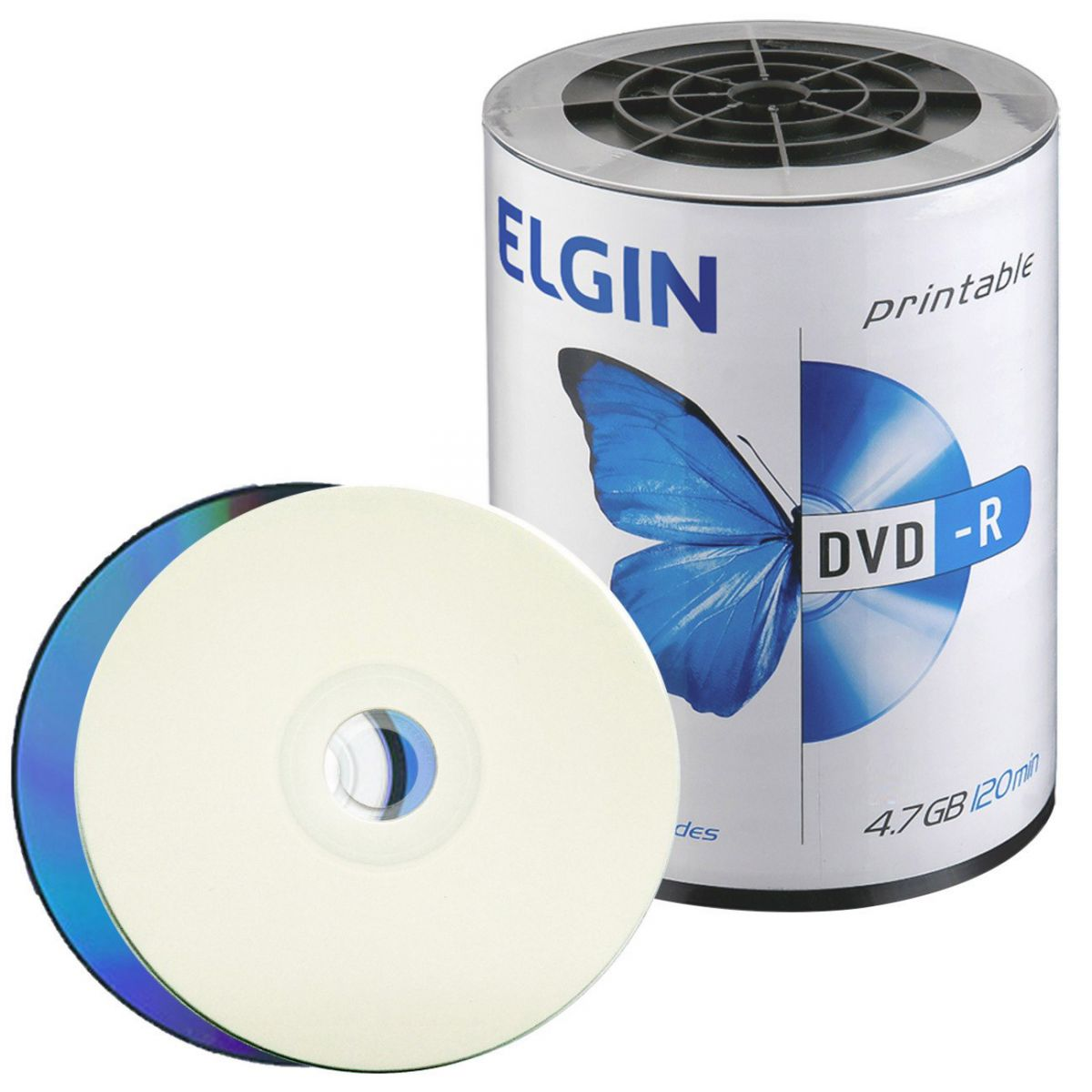 100 DVD-R ELGIN PRINTABLE 16X