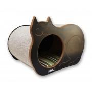 Nicho Casinha Cama Toca para gato - Dream´s  Cat  - Preto - Guarapua Verde