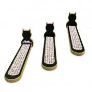 Escadinha para gatos preta linha Classic - três peças