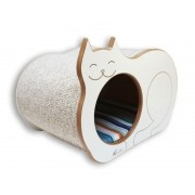 Nicho Casinha Cama Toca para gato - Dream´s  Cat  - Branco - Bora Bora Laranja