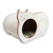 Nicho Casinha Cama Toca para gato - Dream´s  Cat  - Branco - Guarapua Verde